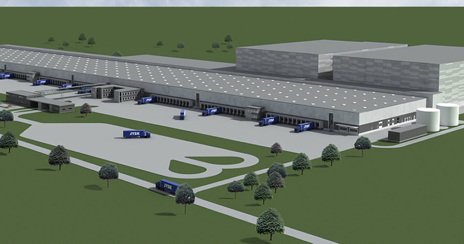 High Bay Logistic Platform for Jysk